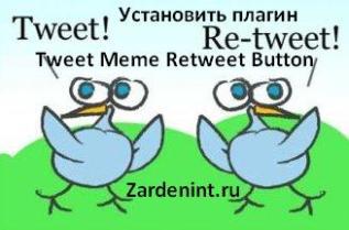 Как установить плагин Tweet Meme Retweet Button