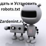 Создать и установить robots txt